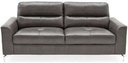 Vida Living Tanaro Grey Leathaire 3 Seater Sofa