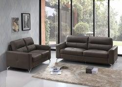 Vida Living Tanaro Grey Leathaire 3+2 Seater Sofa