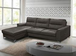 Vida Living Tanaro Grey Leathaire Left Hand Facing Corner Sofa