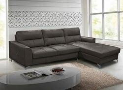 Vida Living Tanaro Grey Leathaire Right Hand Facing Corner Sofa