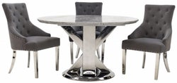 Vida Living Tremmen 130cm Grey Marble Round Dining Table