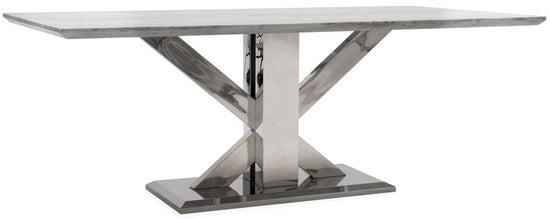 Vida Living Tremmen 180cm Grey Marble Dining Table