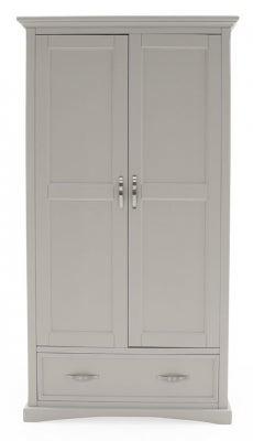 Vida Living Turner Grey Painted 2 Door Wardrobe