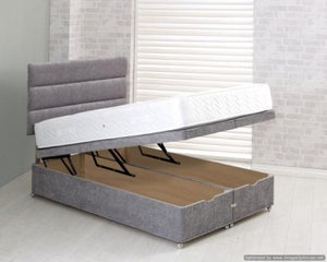 Vogue Full End Lift Ottoman Fabric Divan Bed Base