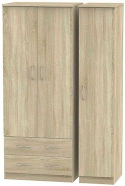 Avon Bardolino 3 Door 2 Left Drawer Wardrobe