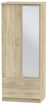 Avon Bardolino 2 Door Mirror Combi Wardrobe