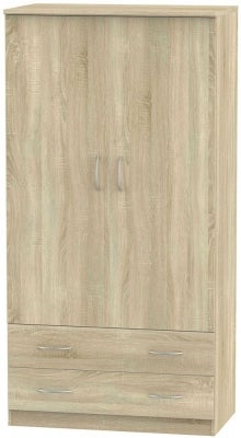 Avon Bardolino 2 Door 2 Drawer 3ft Wardrobe