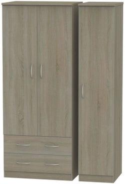 Avon Darkolino 3 Door 2 Left Drawer Wardrobe
