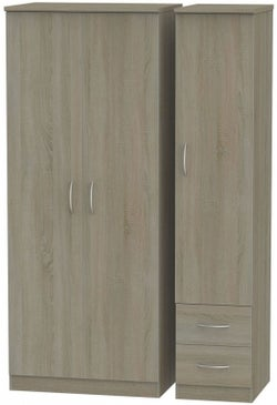 Avon Darkolino 3 Door 2 Right Drawer Wardrobe