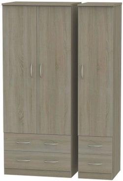 Avon Darkolino 3 Door 4 Drawer Wardrobe