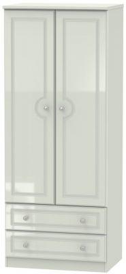 Balmoral High Gloss Kaschmir 2 Door 2 Drawer Wardrobe
