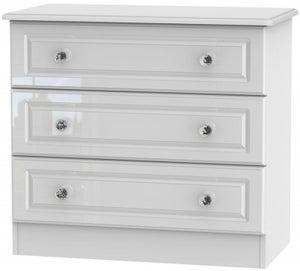 Balmoral High Gloss White 3 Drawer Chest