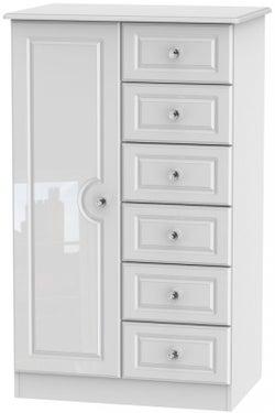 Balmoral High Gloss White 1 Door Children Wardrobe
