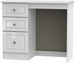 Balmoral High Gloss White Single Pedestal Dressing Table