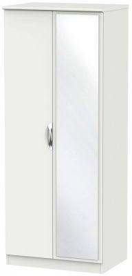 Camden Light Grey 2 Door Mirror Wardrobe