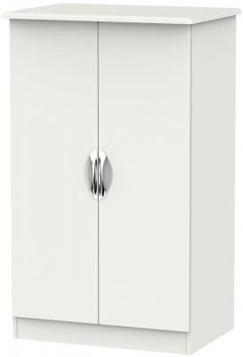 Camden Light Grey 2 Door Plain Midi Wardrobe