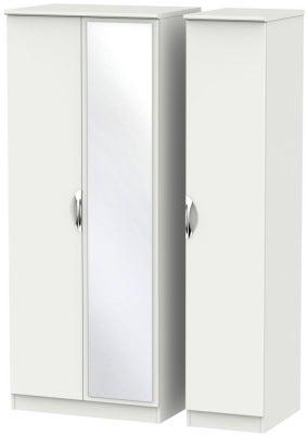 Camden Light Grey 3 Door Mirror Wardrobe