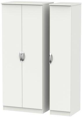 Camden Light Grey 3 Door Plain Wardrobe