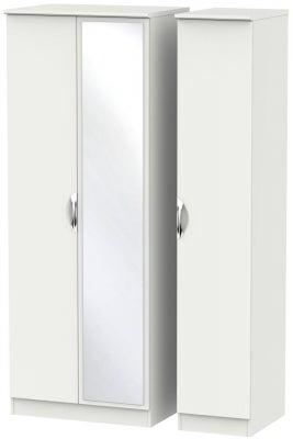 Camden Light Grey 3 Door Tall Mirror Wardrobe