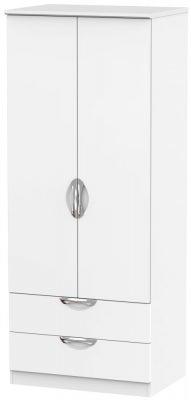 Camden White Matt 2 Door 2 Drawer Wardrobe