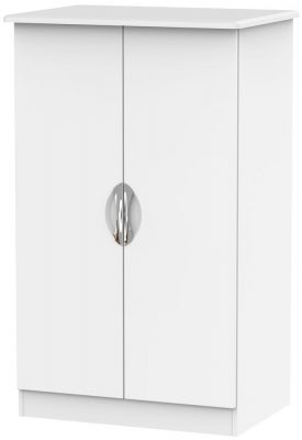 Camden White Matt 2 Door Plain Midi Wardrobe