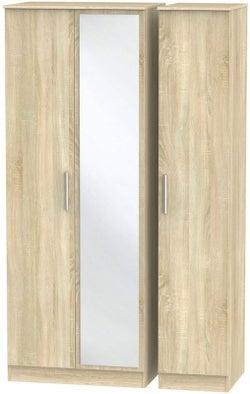 Contrast Bardolino 3 Door Mirror Wardrobe