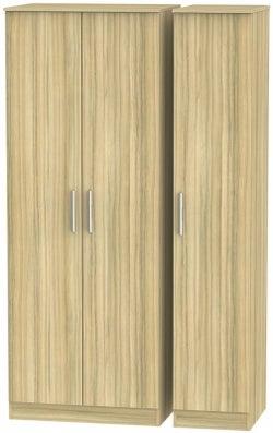 Contrast Cocobolo 3 Door Wardrobe
