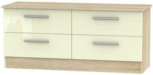 Contrast Bed Box - High Gloss Cream and Bardolino