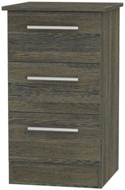 Contrast Panga 3 Drawer Bedside Cabinet