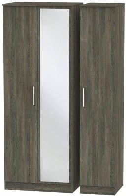 Contrast Panga 3 Door Mirror Wardrobe