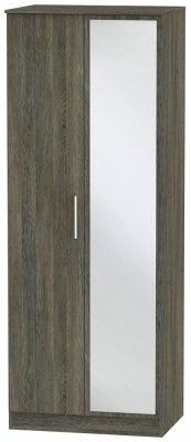 Contrast Panga 2 Door Mirror Wardrobe
