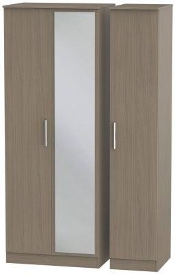 Contrast Toronto Walnut 3 Door Mirror Wardrobe