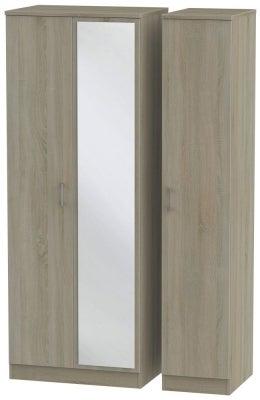 Devon Darkolino 3 Door Mirror Wardrobe
