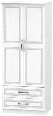 Dorset White 2 Door 2 Drawer Wardrobe