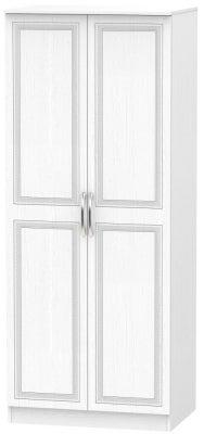 Dorset White 2 Door Wardrobe