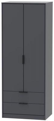 Hong Kong Graphite 2 Door 2 Drawer Wardrobe