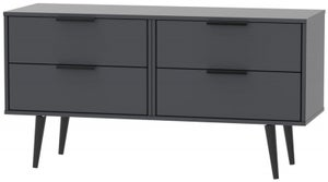 Hong Kong Graphite Bed Box with Wooden Legs