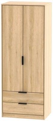 Hong Kong Nebraska Oak 2 Door 2 Drawer Wardrobe