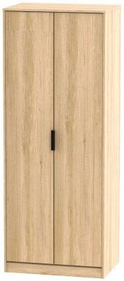 Hong Kong Nebraska Oak 2 Door Wardrobe