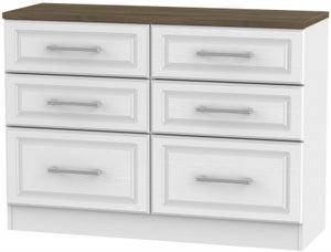 Kent 6 Drawer Midi Chest - White Ash and Oak