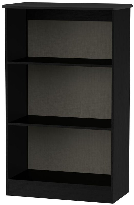 Knightsbridge Black Bookcase