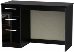 Knightsbridge High Gloss Black Desk