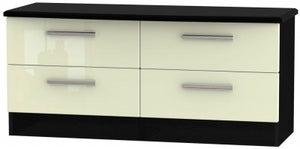 Knightsbridge Bed Box - High Gloss Cream and Black