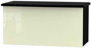 Knightsbridge Blanket Box - High Gloss Cream and Black