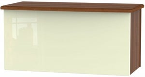 Knightsbridge Blanket Box - High Gloss Cream and Noche Walnut