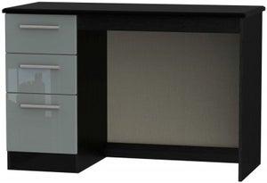 Knightsbridge Desk - High Gloss Grey and Black