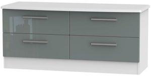 Knightsbridge Bed Box - High Gloss Grey and White
