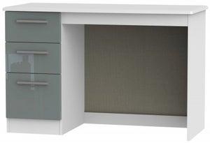 Knightsbridge Desk - High Gloss Grey and White