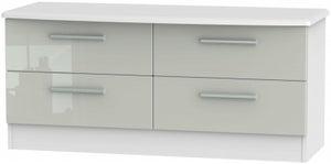 Knightsbridge Bed Box - High Gloss Kaschmir and White
