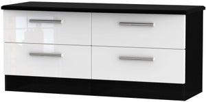 Knightsbridge Bed Box - High Gloss White and Black